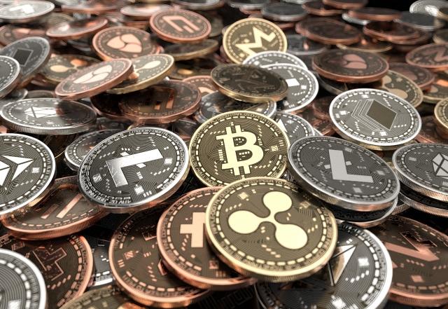 仮想通貨イメージ硬貨